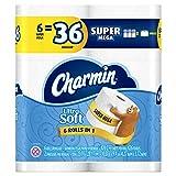 Charmin Ultra Soft Toilet Paper Super Mega Rolls, 6 Count