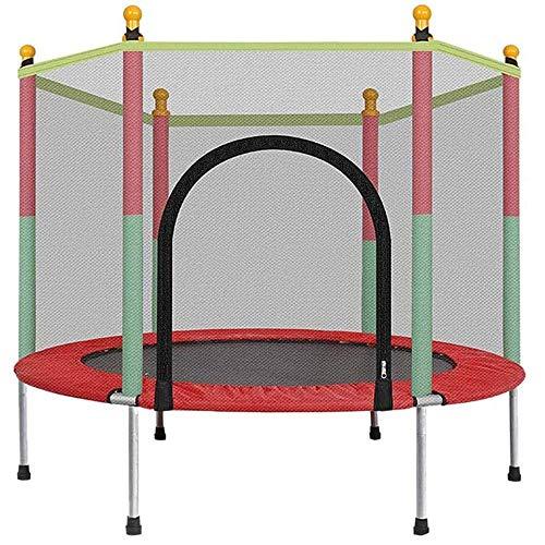 Deportes al aire libre Niños adultos Rebote Trampolín 5FT Niños Trampolín, Fitness Bouncing Cama con rodillo de gabinete Estera de salto y cubierta de primavera Padding para niños en exteriores Trampo