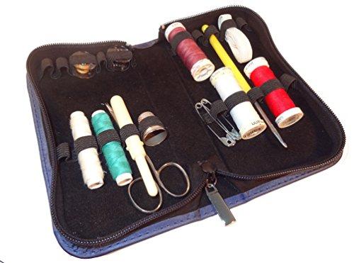 MV-Versand Multi/Tasche-Etui (20 Schlaufen)-Leder blau- für Globuli, Bachblüten oder Öle