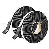 Onarway Foam Tape Weatheratrip for Door and Window Insulation, 2X 12mm(W) x 3mm(T) x 3m(L), Single Sided Foam Strips Adhesive, High Density Foam Seal Tape, Closed Cell Foam Seal Strip Tape, Black