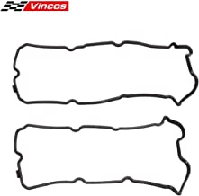 Vincos Engine Valve Cover Gasket Left & Right Replacement For Infiniti 3.5L V6 VQ35DE 2008-2001 Compatible with Nissan 4.0L 3.5l V6 VQ40DE 2015-2001 Compatible with Suzuki Equator 2012-2009