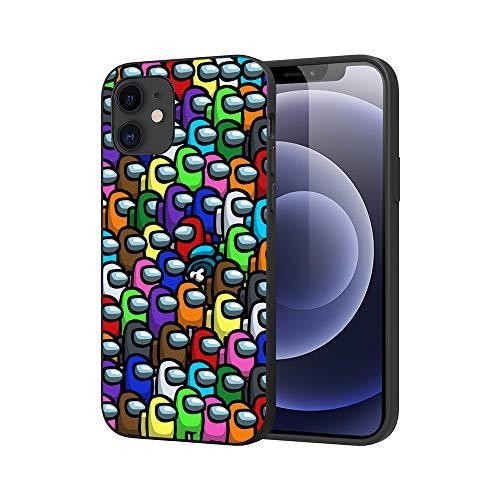 JDSWAN Teléfono Caso Among us Impreso Teléfono Caso Funda para Apple iPhone 11 Pro max Suave Silicona TPU Phone Case Cover Anti-rasguños Funda Carcasa de Telefono