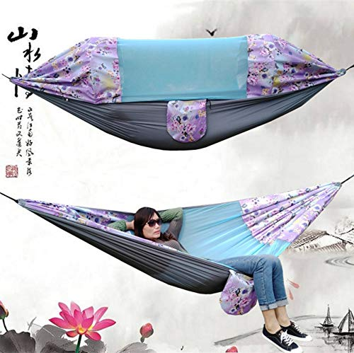 PTICA Mosquito Net Hammock Parachute Cloth Hanging Chair Hammock Swing Outdoor Camping Hammock 275X145cm Furniture