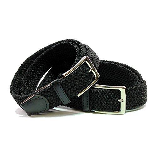 Safekeepers Confortevole Cintura in tessuto Elastico Stretch - Belt - Fibbia Senza Nickel - Unisex: Uomo e Donna