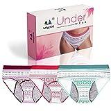 LustyProd Culotte Menstruelle Flux Important Lot de 3 Coton Absorbant (4 couches de...
