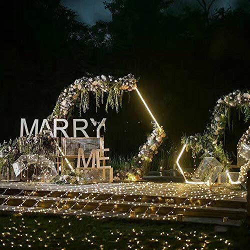 Kaibrite Arco de decoración hexagonal de 2,4 m para bodas, cenador de jardín, pérgola para plantas trepadoras en interiores y exteriores, para decoración de bodas, fiestas de cumpleaños