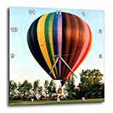 3dRose Hot Air Balloon Wall Clock, 10 by 10-Inch
