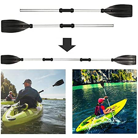 Kayak Paddles,Detachable Alloy Aluminum Double Ended Paddles Canoe Paddle Boat Oars with Anti-slip Grips for Dinghy Canoe Raft