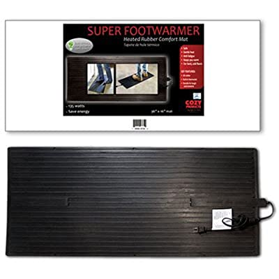 Cozy Products FW Foot Warmer Heated Foot Warming Mat Rubber Design