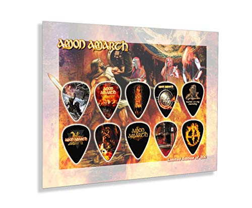 We Love Guitars Amon Amarth 200 Ungerahmte Gitarren Pick Display Plektren