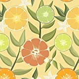 ZITRUSCHEN wz.2 / gelb, Softshell Classic, 140 cm breit