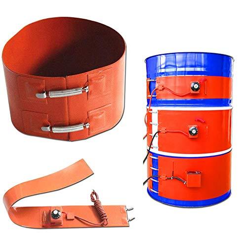 MYLW Aislado Calentador de Tambor Silicona Calentador de Tambor Aislado Rotación Ajustable Termostato para calefacción y trazado de Calor,200l/250 * 1740mm/3kw