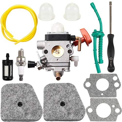 Dalom C1Q-S174 Carburetor w Carb Adjustment Tool Air Filter Tune Up Kit for Sthil FS87 FS90 FS100 FS110 HT100 HT101 HL100 HL90 Trimmer Replaces # 4180 120 0604 4180 120 0611