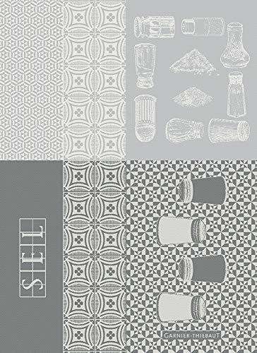Garnier Thiebaut 39633 Salieres Blanc - Trapo de cocina (56 x 77 cm, 100% algodón)