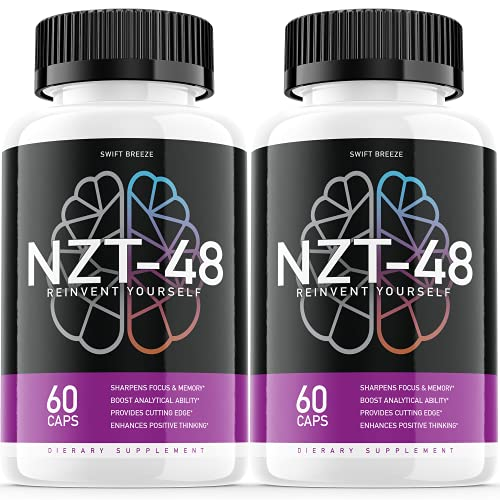 (2 Pack) NZT-48 Limitless Pill Reinvent Yourself NZT48 Focus Memory Brain Booster Supplement (120 Capsules)