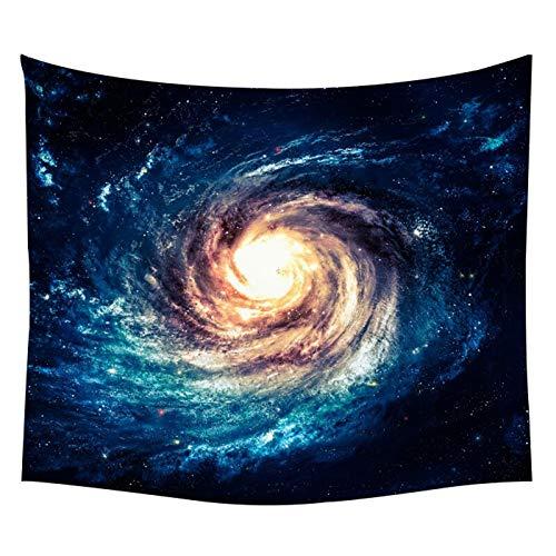 KHKJ Tapiz de Pared psicodélico de Galaxia 3D, Tapiz Personalizado del Espacio del Planeta, Tapiz Colgante Boho, Decoraciones para Colgar en la Pared A11 200x150cm