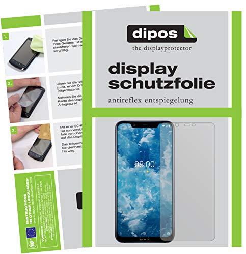 dipos I 2X Schutzfolie matt kompatibel mit Nokia 8.1 Folie Bildschirmschutzfolie