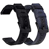 Olytop 22mm Bands for Galaxy Watch 3 45mm/46mm Bands/Gear S3 Band, 2 Pack Quick Release Premium Nylon Sports Replacement Strap Wrist band for Samsung Galaxy Watch3 45mm/Galaxy Watch 46mm - Black+Blue