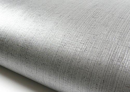 ROSEROSA Peel & Stick Metallic Color Backsplash Hair Line Contact Paper & Border Sticker Self-Adhesive Wallpaper Shelf Liner Table and Door Reform (MG5010-5 : 2.00 Feet X 6.56 Feet)