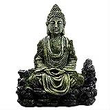 DZX Decoraciones para el hogar, Figuras de Adorno, Regalo, Antiguo Buda Sentado, Estatua de Resina, ...