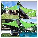 OZYN Toldo Vela, Impermeable Exterior Fiesta En El Patio del Jardín Vela Solar Triangular Protección Solar 90% De Bloqueo UV Verde (Size : 2X2x2M)