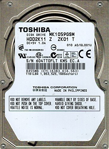Toshiba MK1059GSM hdd2K11Z zk01T Philippinen 1TB