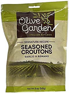 Olive Garden, Seasoned Croutons, Garlic and Romano, 5 Ounce Bag (Pack of 3)