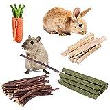 TSLIVE Rabbit Toys, Rabbit, Rabbit Treats, Hamster Toys, Hamster Cage Accessories, Bamboo Sticks, Apple Sticks, Guinea Pig Toys, Small Animal Toys, Bunny Toys, Rabbit Cage Accessories