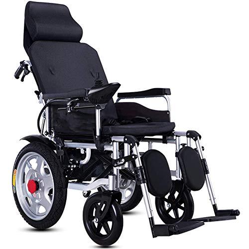 Cajolg Zvvst Elektrische rolstoel, voor ouderen, scooters, dubbele motor, 360°-joystick, lithium-accu, rolstoel, elektrisch, gevarieerd, licht, opvouwbaar