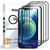 AODDOR Vetro Temperato per iPhone 12/12 PRO, [3 Pezzi] Durezza 9H Anti-Graffi Senza Bolle Glass Pellicola Protettiva, Full Schermo Protezione per iPhone 12/12 PRO(6.1') - con Strumento Installazione