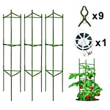 Derlights Tomato Cage Assembled Plant Support, 3Pack Tomato Stakes Cucumbers Trellis for Climbing Plants Garden Vegetables