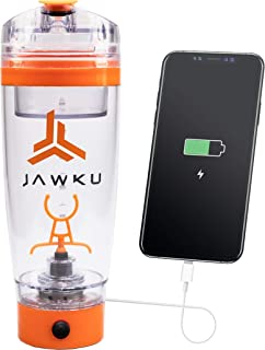 JAWKU Power Shaker Bottle Now with Dry Storage Container // A Powerful 11,000 RPM Mixer and Built-in Charger for Your Devi...