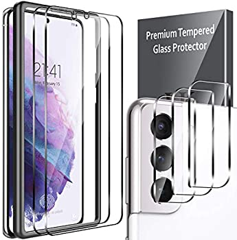 5-Pack LK 2 Pcs Screen Protector + 3 Pcs Camera Lens Protector