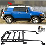 JMTAAT Roof Rack Rail Top Cargo Luggage Carrier 150Lbs Black-Coated Aluminum for 2007-2014 Fj Cruiser Offroad Type