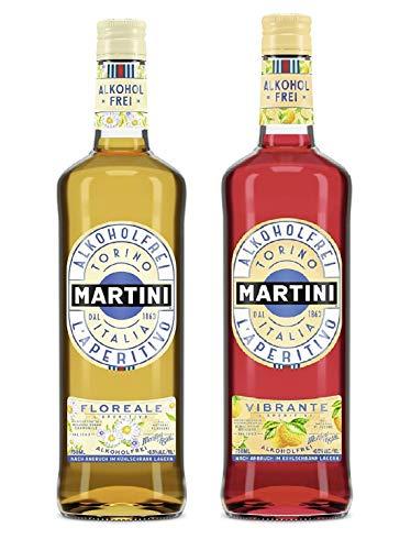 Martini Aperitivo Vibrante Sin Alcohol + Martini Aperitivo Floreale Sin Alcohol - 2 x 750 ml : 1.5 L