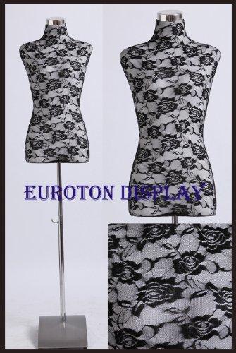 Euroton Wechselbezug Überzug in Lace schwarz für Schneiderpuppe Damenbüste Büste Torso LSS