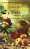 Grupos sanguíneos y dieta (Vida sana)