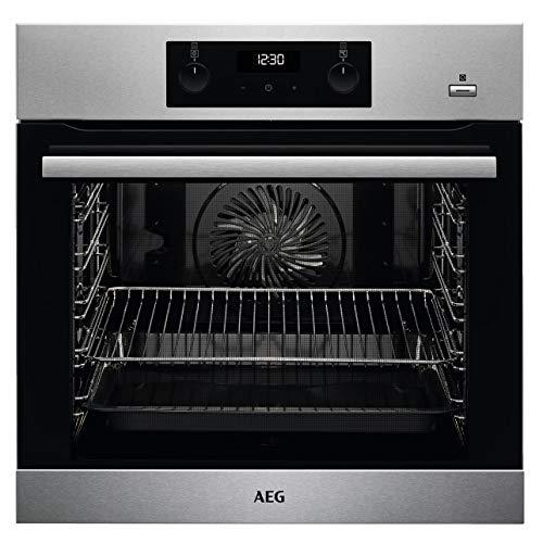 AEG BEB355020M Einbaubackofen / SteamBake – mit Feuchtigkeitszugabe / Reinigung mit Wasserdampf / Touch-Bedienung / Grillfunktion / Display mit Uhr / A+ / Edelstahl mit Antifingerprint
