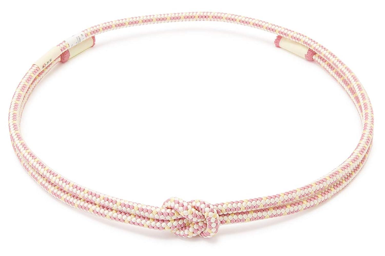 (ソウビエン) 帯締め 翠嵐工房 ピンク系 白 クリーム 花てまり 正絹 組紐 撚り房 丸組 カジュアル 日本製