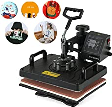 NURXIOVO Heat Press, 12x15 in 360 Degree Swing Away Commercial Heat Transfer Machine, Hot Pressing Vinyl Digital Sublimation for T-Shirt, Mouse Pad, Phone Case, Cotton, Bags, Tablecloth