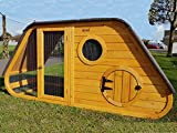 Cocoon HATCHED LARGE CHICKEN COOP HEN HOUSE RABBIT HUTCH WITH NIGHT SHUTTER AND REMOVABLE WASHABLE RUBBER...