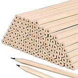 Lápices de HB Juego de hexágono de grafito de madera natural básico para dibujo, útiles escolares de oficina de escritura 17.9 * 0.7 cm (50 P)