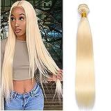 Straight Blonde Weft Hair Bundles 613 Brazilian 1 Bundles Hair Extensions Brazilian Honey Blonde Bundle Brazilian Hair Weave Honey Blonde Straight Bundle 28 Inch