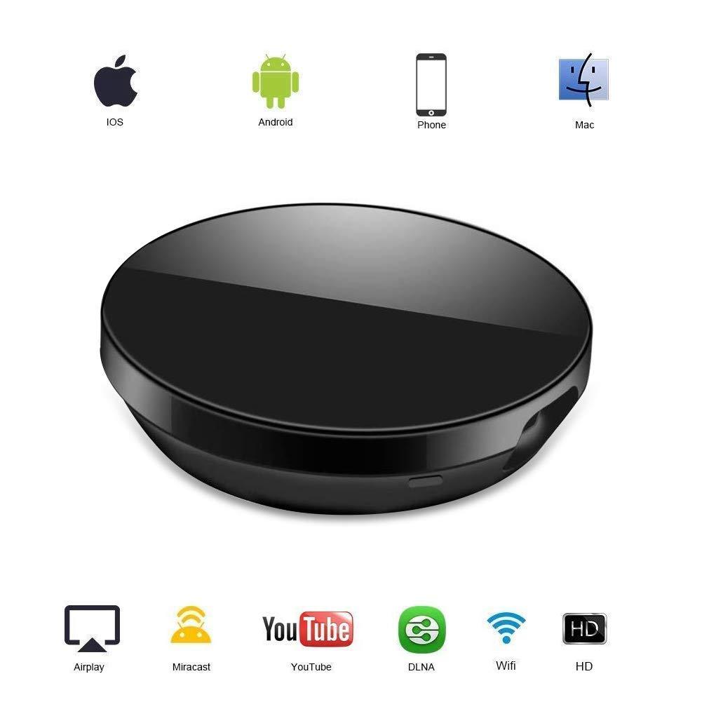 WiFi Aparato para la conexión de WiFi, ATETION WiFi inalámbrico 1080 P Mini Aparato Receptor HDMI TV Miracast DLNA Airplay para iOS/Android/Mac: Amazon.es: Electrónica