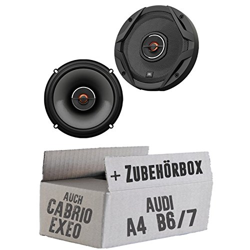 JBL GX602 | 2-Wege | 16,5cm Koax Lautsprecher - Einbauset für Audi A4 B6/7 Seat Exeo - JUST SOUND best choice for caraudio