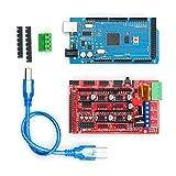 KKmoon Das 3D Drucker Controller Kit enthält das USB Kabel RAMPS 1.4 Controller 2560 R3 für die Druckergravurmaschine