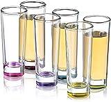 JoyJolt Hue Colored Shot glass Set, 6 Piece Shot Glasses - 2-Ounces....