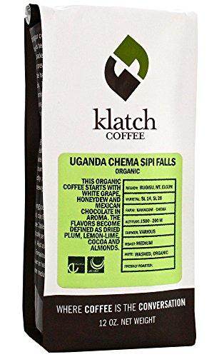 Klatch Coffee 'Organic Uganda Chema Sipi Falls' Medium Roasted Organic Shade Grown Whole Bean Coffee - 12 Ounce Bag