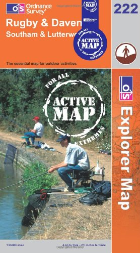 Rugby and Daventry, Southam and Lutterworth: Sheet 222 (OS Explorer Map Active)
