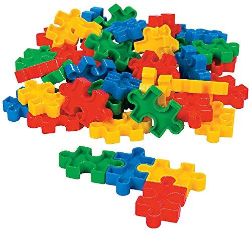 Fun Express Puzzle-Shaped Block Set (50 Pcs) 2 1/4